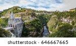 panoramic view of las lajas... | Shutterstock . vector #646667665
