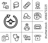 healthcare icon. set of 13... | Shutterstock .eps vector #646672225