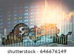 double exposure business props...   Shutterstock . vector #646676149