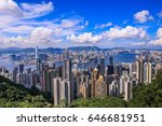 hong kong viewpoint at victoria ... | Shutterstock . vector #646681951