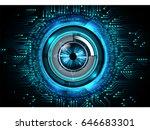future technology  blue eye... | Shutterstock .eps vector #646683301