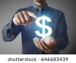 businessman with financial... | Shutterstock . vector #646683439