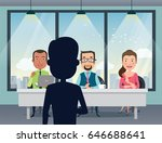 job interview with smiling... | Shutterstock .eps vector #646688641