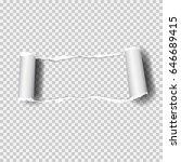 realistic vector torn paper ... | Shutterstock .eps vector #646689415