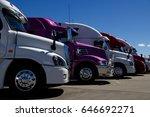 a row of new heavy duty... | Shutterstock . vector #646692271