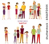 different kind of families. big ... | Shutterstock .eps vector #646693444