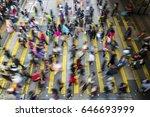 busy pedestrian crossing at...   Shutterstock . vector #646693999