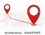 gps navigator pin checking...   Shutterstock .eps vector #646695985