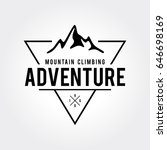 outdoor wilderness  mountain... | Shutterstock .eps vector #646698169