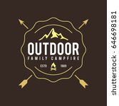 outdoor wilderness  mountain... | Shutterstock .eps vector #646698181