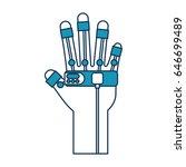 glove video game control | Shutterstock .eps vector #646699489