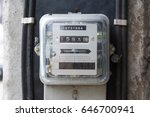 kilowatt hour electricity meter ... | Shutterstock . vector #646700941