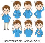 teenage boy have different... | Shutterstock .eps vector #646702201