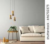 interior design for living area ... | Shutterstock . vector #646702375