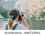 back of professional travel... | Shutterstock . vector #646710961
