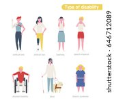 type of disability women... | Shutterstock .eps vector #646712089