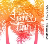 summertime background with hand ... | Shutterstock .eps vector #646712527