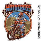 motocross racing championship   Shutterstock .eps vector #646721221
