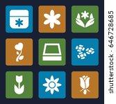 blossom icons set. set of 9... | Shutterstock .eps vector #646728685
