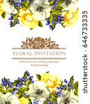 romantic invitation. wedding ... | Shutterstock .eps vector #646733335