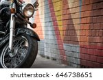closeup of motorcycle's wheel... | Shutterstock . vector #646738651