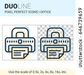 pixel perfect duo line printer... | Shutterstock .eps vector #646739659