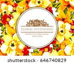 romantic invitation. wedding ... | Shutterstock .eps vector #646740829