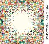 morocco disintegration template.... | Shutterstock .eps vector #646742569