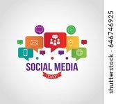 social media day vector... | Shutterstock .eps vector #646746925
