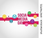 social media day vector... | Shutterstock .eps vector #646746931