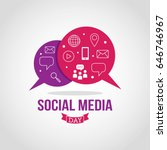 social media day vector... | Shutterstock .eps vector #646746967