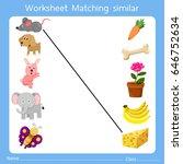 illustrator of worksheet... | Shutterstock .eps vector #646752634