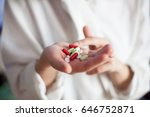 a nurse in a hospital with... | Shutterstock . vector #646752871