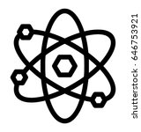 atom vector icon | Shutterstock .eps vector #646753921