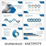 template presentation slides... | Shutterstock .eps vector #646759579
