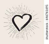 vector art illustration grunge... | Shutterstock .eps vector #646761691