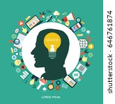 creative network concept.... | Shutterstock .eps vector #646761874