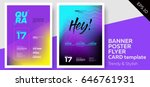electronic music covers for... | Shutterstock .eps vector #646761931