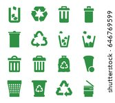 recycling icons set. set of 16... | Shutterstock .eps vector #646769599