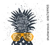 hand drawn label with textured... | Shutterstock .eps vector #646769905