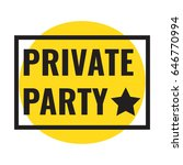 private party. vector frame... | Shutterstock .eps vector #646770994