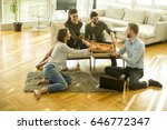 group of happy young people... | Shutterstock . vector #646772347