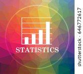 statistics icon. statistics... | Shutterstock . vector #646772617