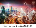modern transportation network... | Shutterstock . vector #646781131