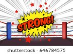 vector of boxing ring corner... | Shutterstock .eps vector #646784575