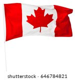 canadian flag isolated on white | Shutterstock . vector #646784821