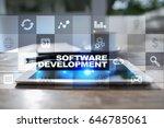 software development.... | Shutterstock . vector #646785061