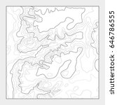 topographic contour map... | Shutterstock .eps vector #646786555