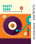 simple retro style  party... | Shutterstock .eps vector #646787671