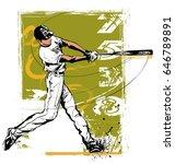 baseball hitter swinging   ...   Shutterstock .eps vector #646789891